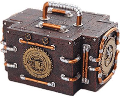 Zeitmaschine Koffer tragbar Zeitkoffer