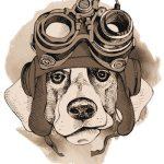 Zeitpolizeihund mit blutiger Achsel